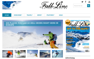 Fall-Line skiing website, as edited by me
